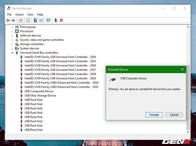 Khắc phục lỗi không nhận USB