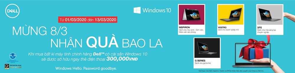 Khuyến mại Dell windows tháng 3/2020