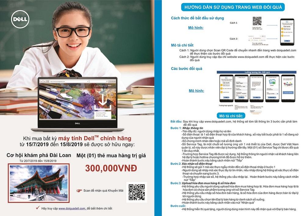 KM Dell: mua máy tính Dell - du lịch đài loan
